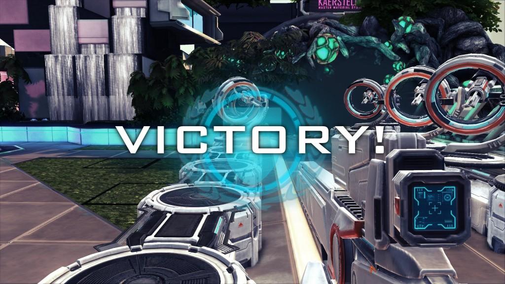 Komunikat o zwycięstwie w grze Sanctum 2