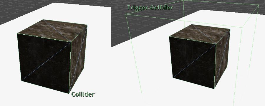 Collider i Trigger Collider w Unity3d