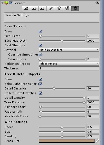 Opcje terenu w Unity 5.0