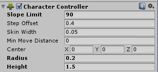 Komponent Character Controller