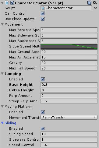 Komponent Character Motor (Script)