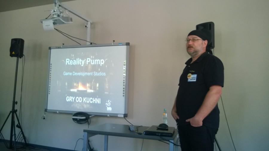 Prelekcja: Gry od Kuchni - Tadeusz Zuber, prezes Reality Pump Foto: Marek Zając - http://zajacmarek.com