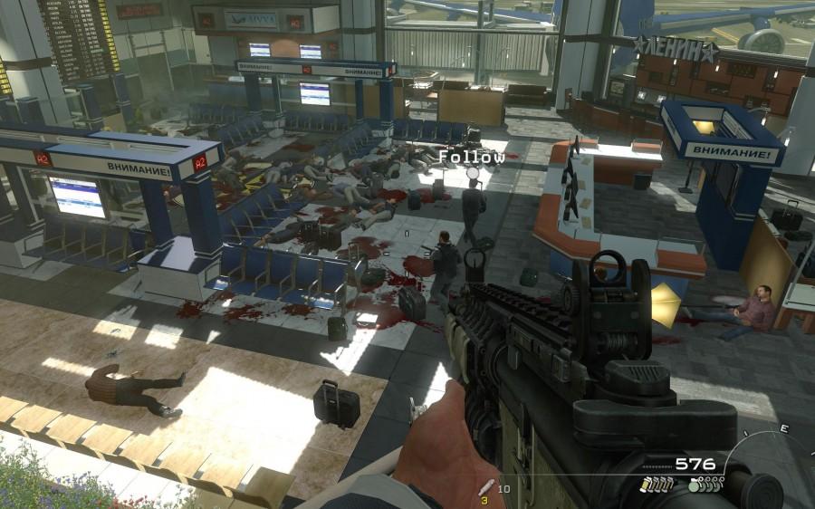 Scena na lotnisku w Call Of Duty: Moder Warfare 2