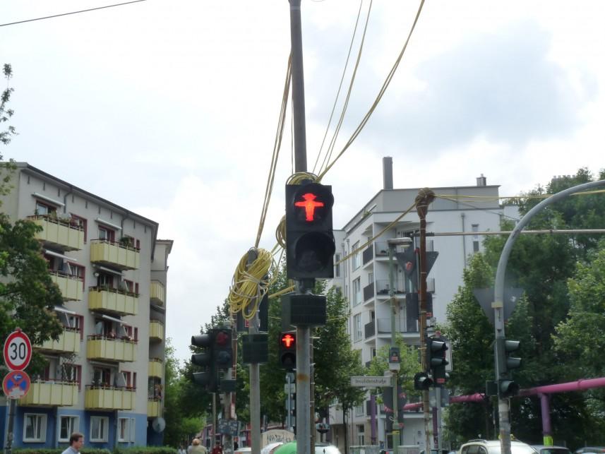 Sygnalizacja świetlna w Berlinie wschodnim