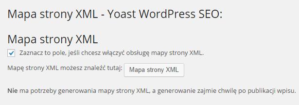 Mapy strony XML