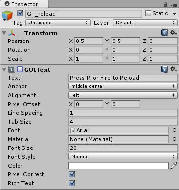 Ustawienia obiektu GT_reload