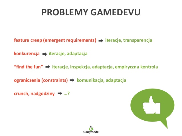 Jakie problemy GameDevu rozwiązują metodyki lekkie? Cała prezentacja