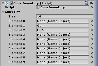 Uzupełnienie tabeli z bronią