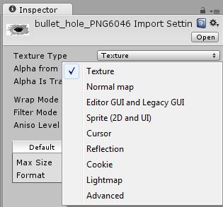 Zmiana trybu tekstury w Unity3d.