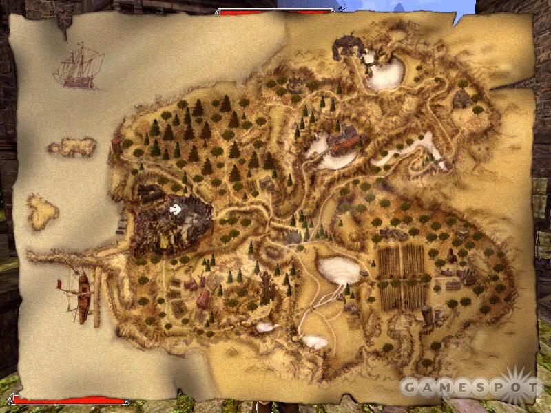 Mapa w grze Gothic II