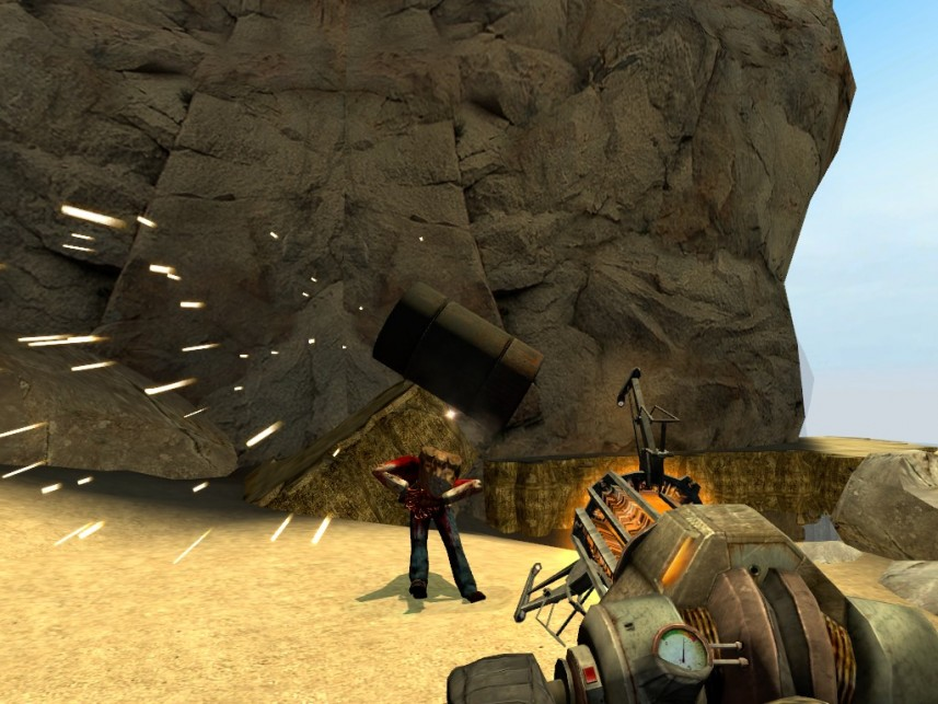 Gravity Gun z Half-Life 2 Źródło: http://smod.wikidot.com/