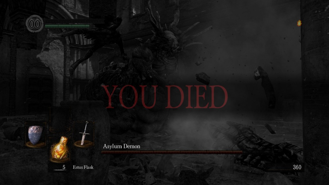 Ekran Śmierci w Dark Souls