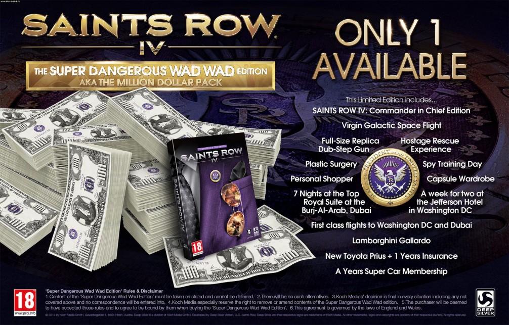 Edycja kolekcjonerska Saints Row IV za $1 000 000