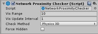 NetworkProximityChecker w UNet