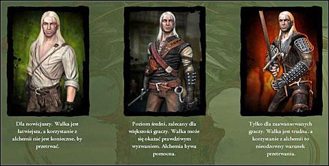 Wybór poziomu trudności w Wiedźminie Źródło: gry-online.pl