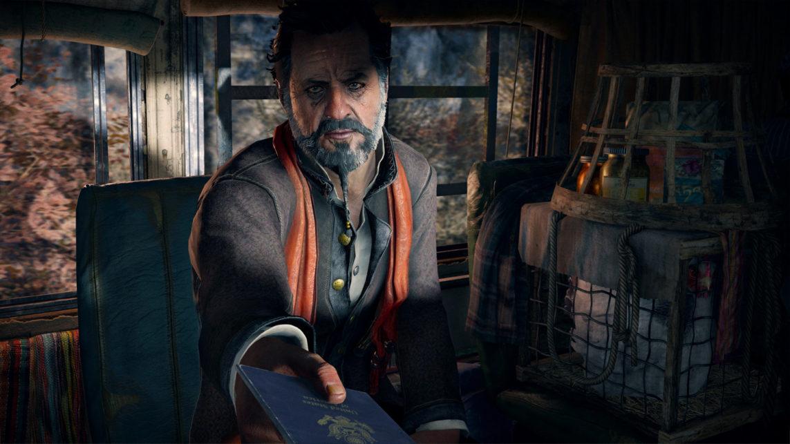 Towarzysz z autobusu w intrze Far Cry 4
