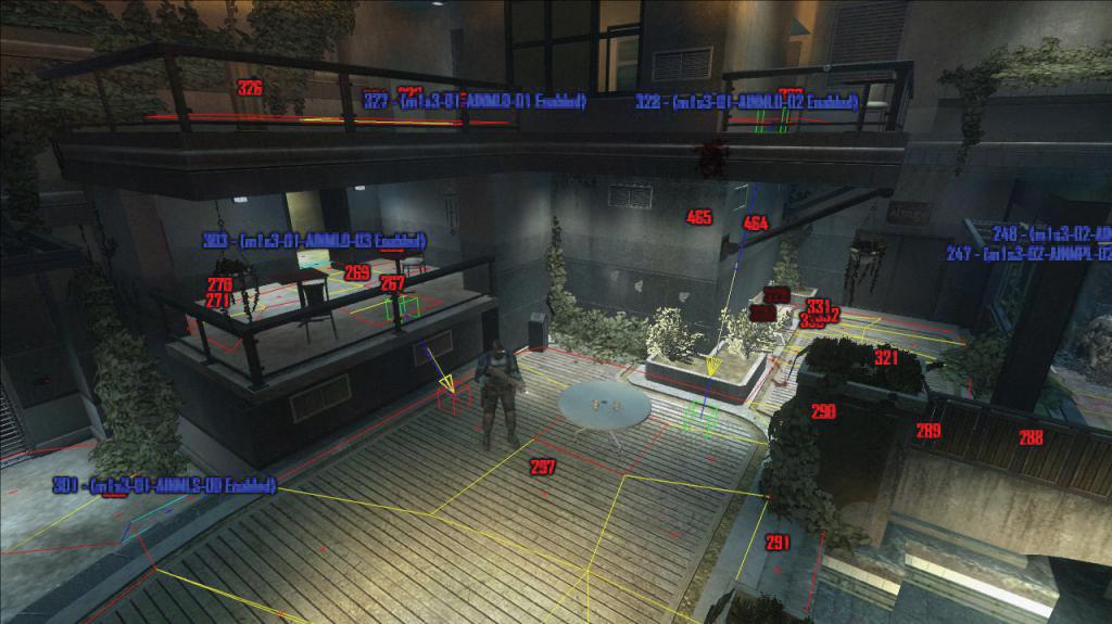 W grze F.E.A.R NavMesh informuje agenta, jakie animację powinien odtwarzać. Źródło zdjęcia: http://www.bit-tech.net/