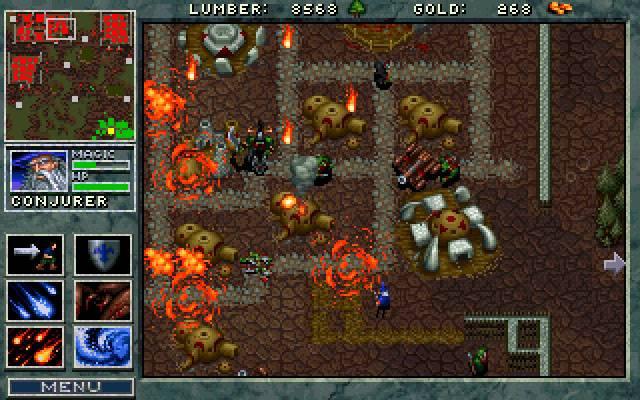 Pierwszy Warcraft mógł zostawiać sporo do życzenia w kwestii wizualnej, ale był rewolucyjny, jeśli chodzi o wyznaczanie ścieżki. Źródło zdjęcia: http://www.myabandonware.com/