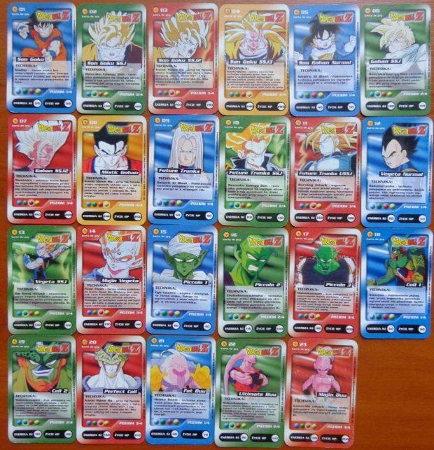 Karty kolekcjonerskie Dragon Ball dodawane do paczek chipsów. W zasadzie analogowy loot box z chipsami. Źródło: http://collections.pl/