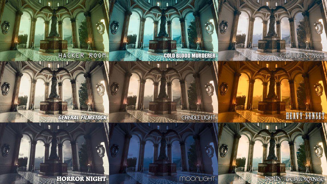 Color Grading w Unreal Engine Źródło: https://www.unrealengine.com